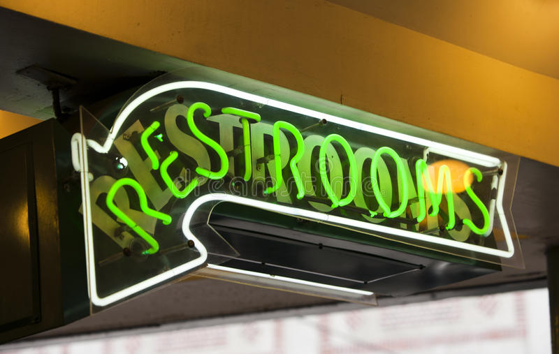 Download Restroom sign stock image. Image of signage, arrow, pointer - 31842659