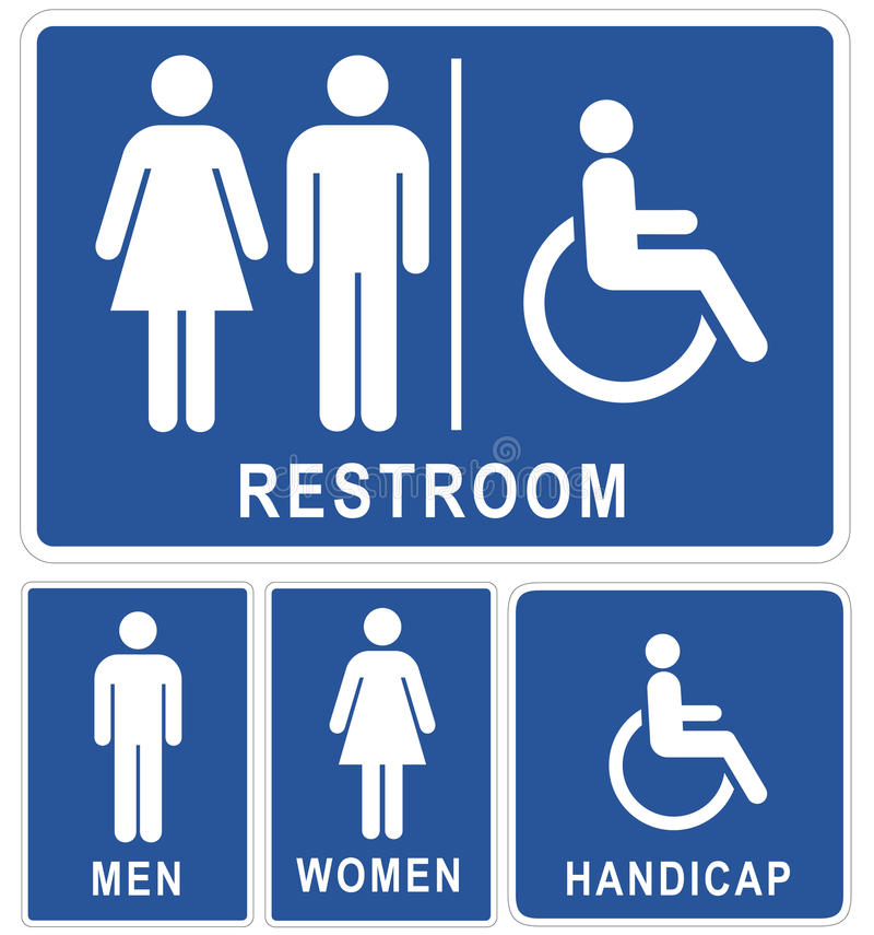 Restroom signs stock illustration