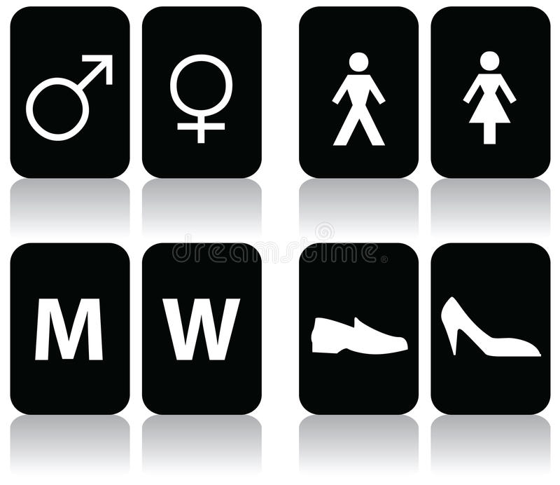 Download Restroom Signs stock vector. Illustration of accessible - 9636118