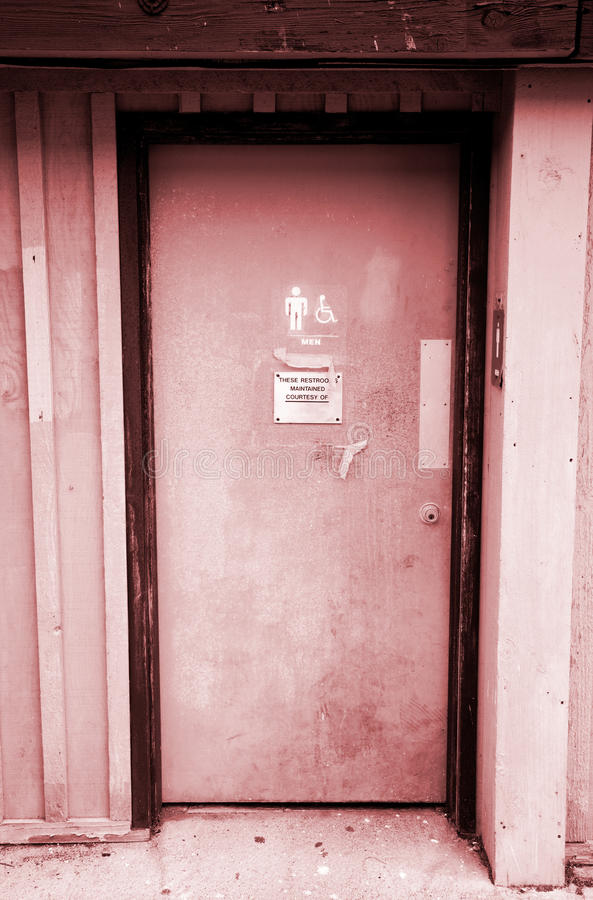 Restroom-Tür lizenzfreies stockfoto