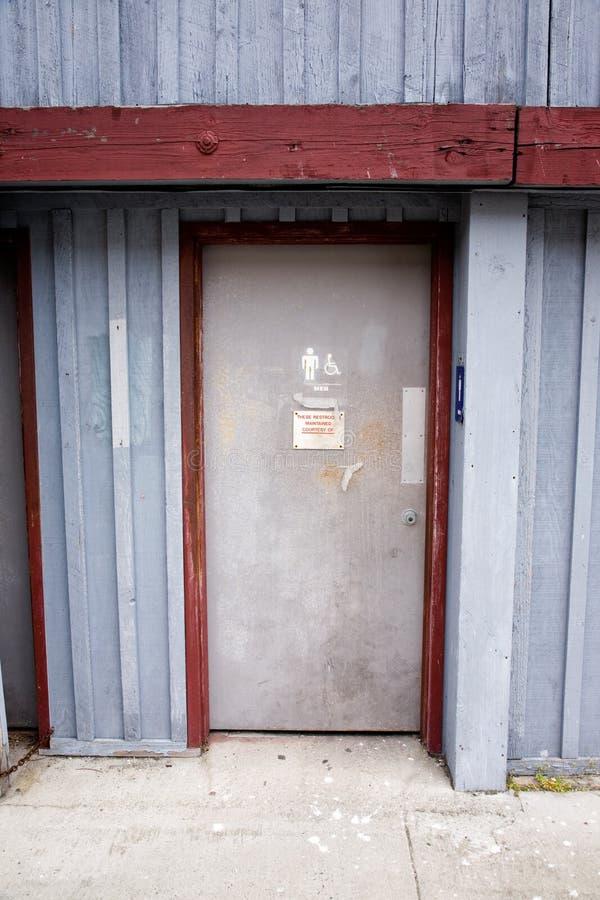 Restroom-Tür stockfotografie