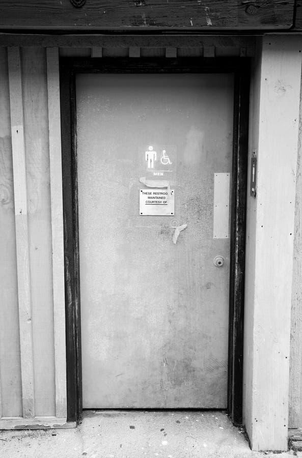 Restroom-Tür stockbilder