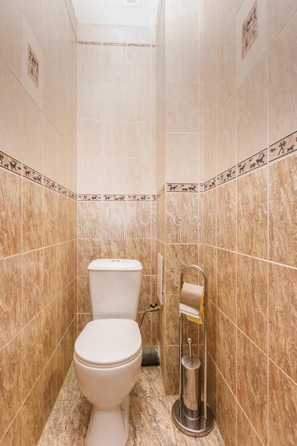 Restroom with toilet stock photography