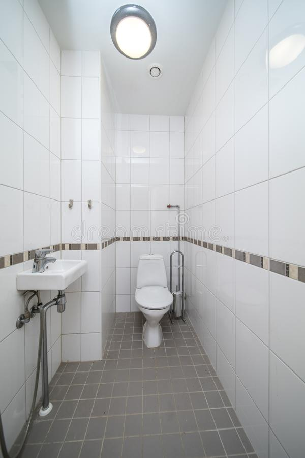 Restroom with toilet royalty free stock image