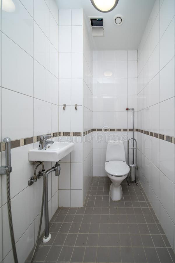 Restroom with toilet stock image