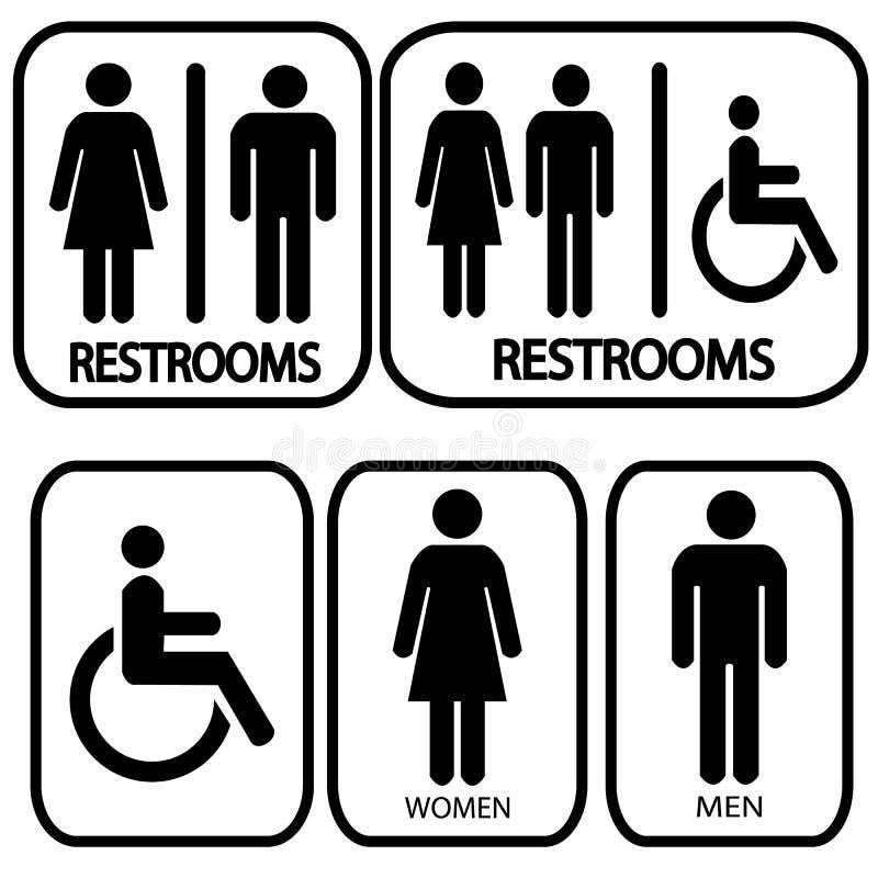 Restroom-Zeichen vektor abbildung