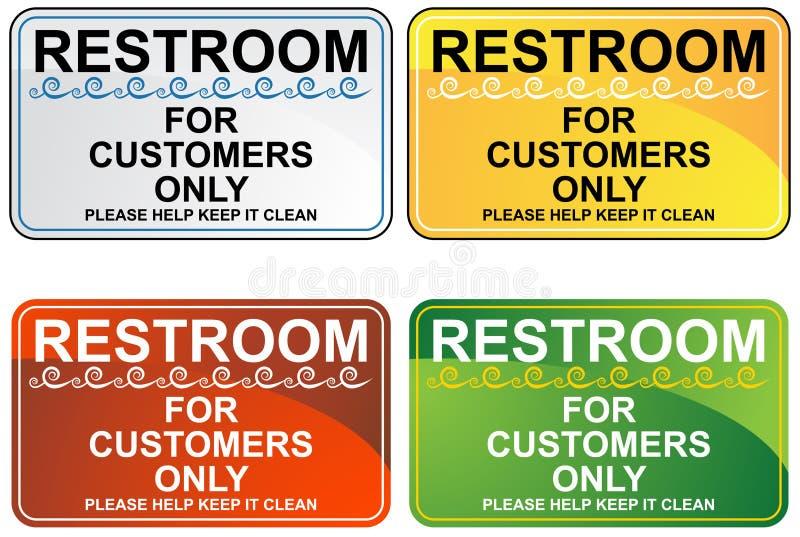 Restroom-Zeichen-Set stock abbildung