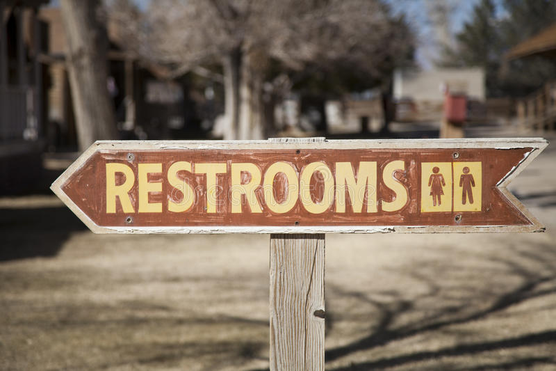 Restrooms Sign stock photo