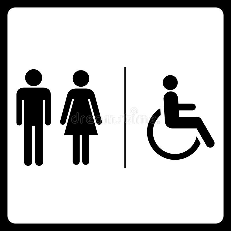 Restrooms symbol sign royalty free stock photo