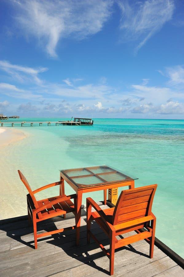 Download Restuarant on beach stock image. Image of romantic, villa - 12599641