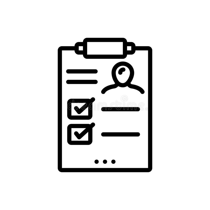 Black line icon for Result, outcome and outgrowth. Black line icon for  Result, consequence, performance,  outcome and outgrowth stock illustration