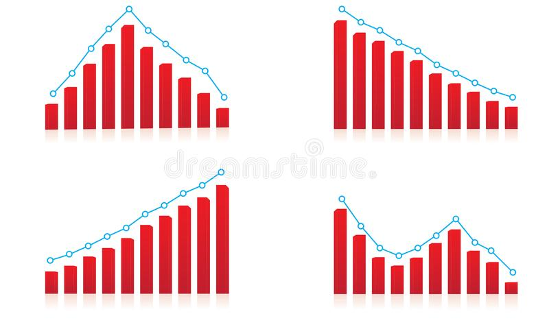 Result Up and down financial chart Template. Illustration eps file vector illustration