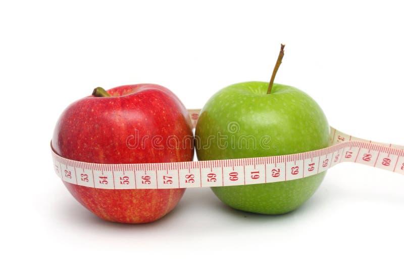 Resultado da dieta de Apple imagem de stock royalty free