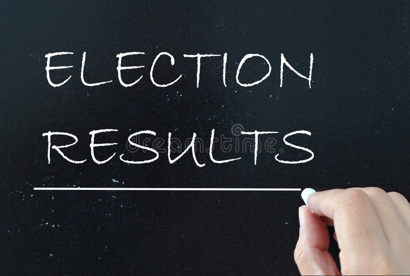 Resultados de elección fotografía de archivo