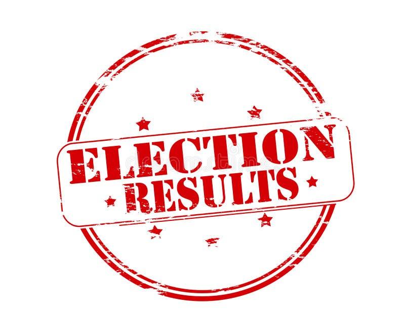 Resultados de elección stock de ilustración