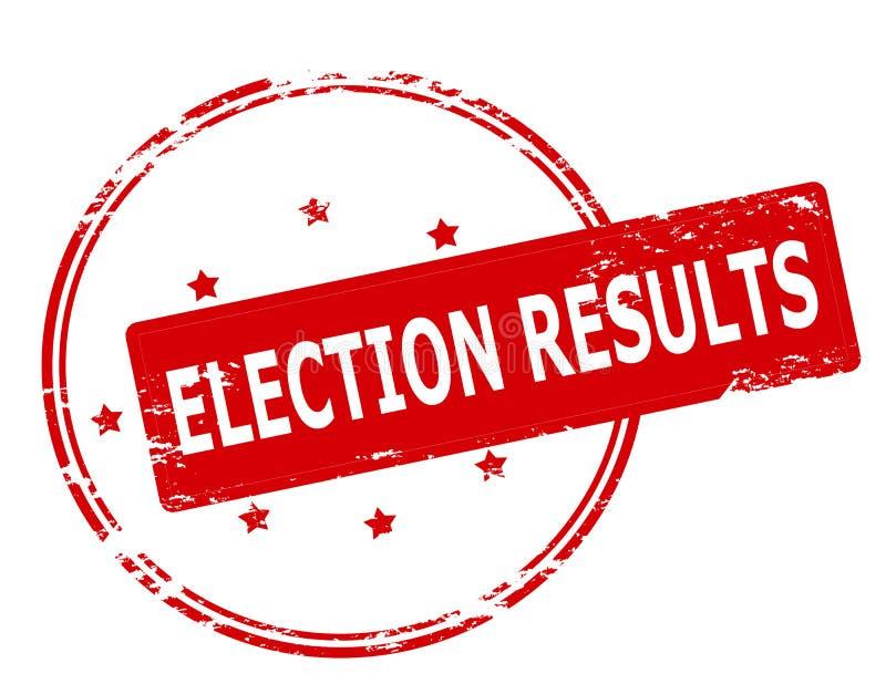 Resultados de eleição ilustração do vetor
