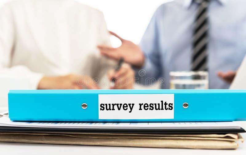 Resultados de la encuesta imagenes de archivo