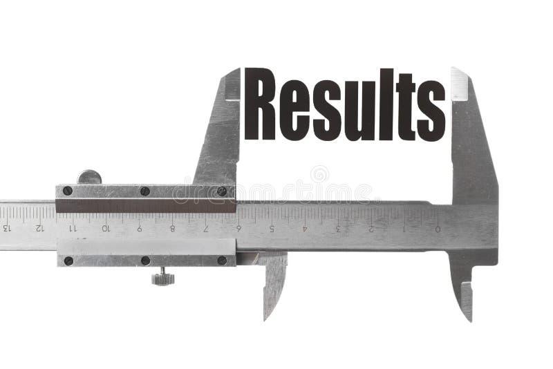 Resultados de medición imágenes de archivo libres de regalías