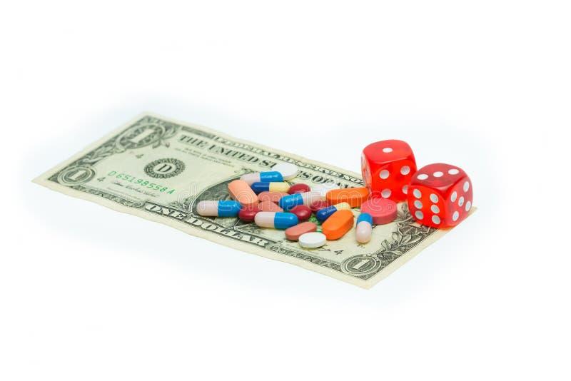 Resultados de pesquisa incertos da indústria médica, taxas de êxito e custos altos fotografia de stock