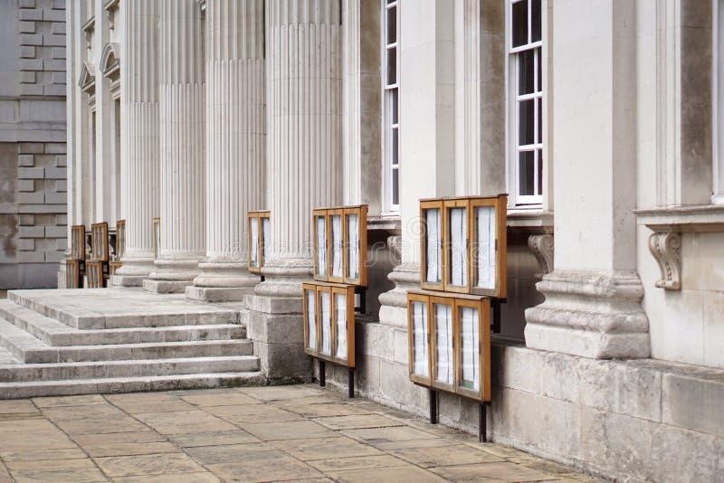 Resultados del examen en la casa del senado, Universidad de Cambridge foto de archivo