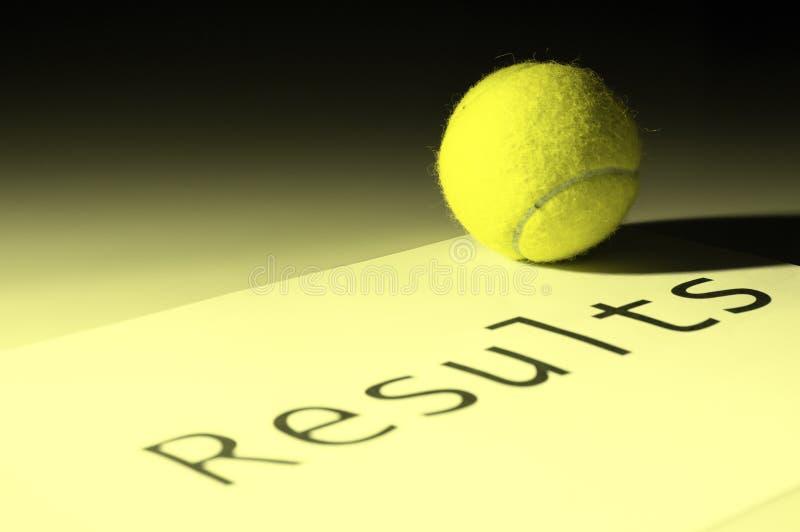 Resultados do tênis fotografia de stock