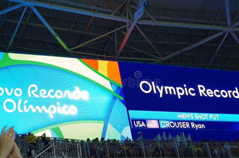 Resultat av kortslutningen för man` s satte finaler på Rio2016 arkivbilder