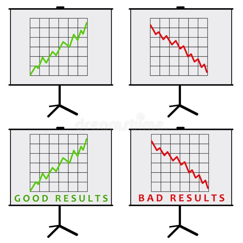 Resultaten vector illustratie