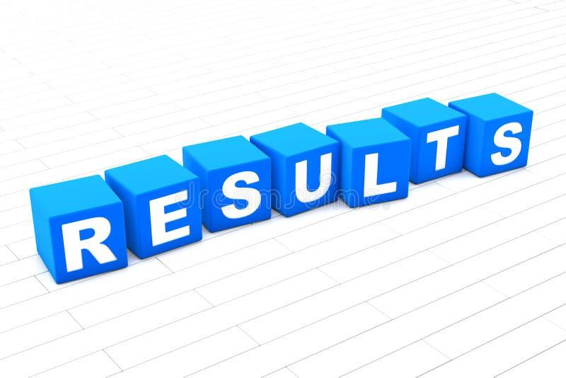 Resultatordillustration stock illustrationer
