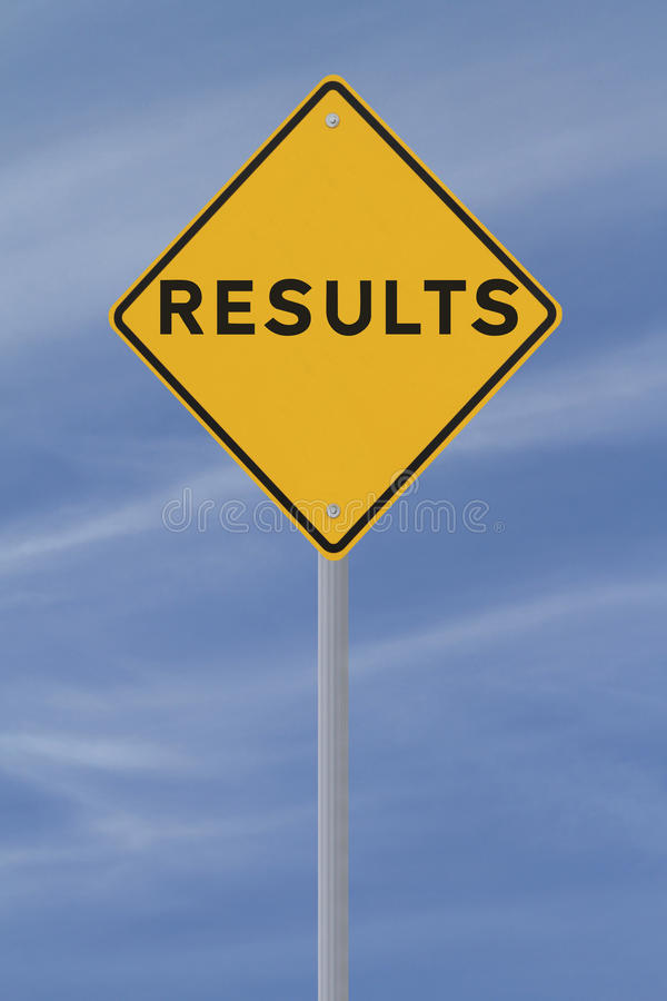 Results royalty free stock photography