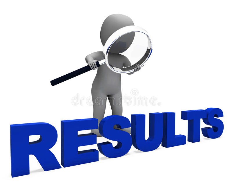 Results Character Shows Improvement Result Or Outcome stock illustration
