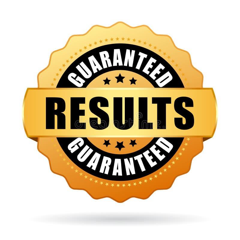 Results guaranteed gold vector seal stock illustration
