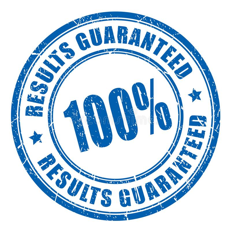 Results guaranteed vector stamp royalty free illustration