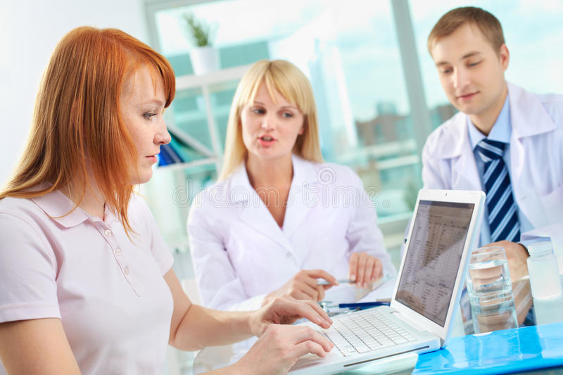 Results Of Medical Test Stock Image