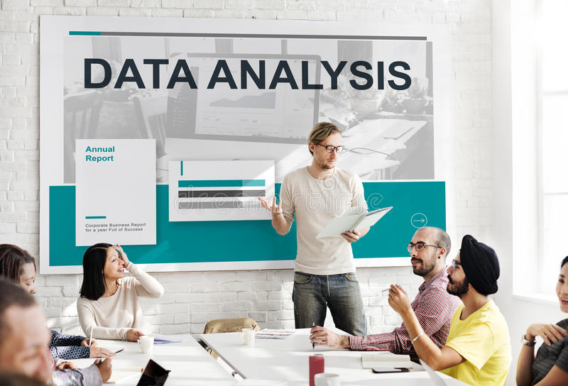 Results Statistic Research Data Analysis Concept stock photo