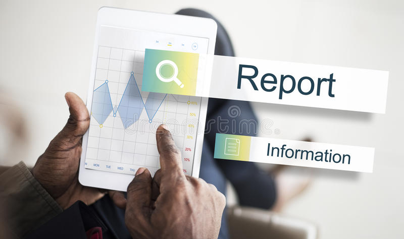 Results Statistics Report Target Concept. People Checking Results Statistics Report Target royalty free stock photography