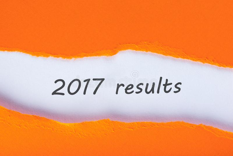 2017 results. Time to summarize and plan goals for the next year. Business background.  stock images