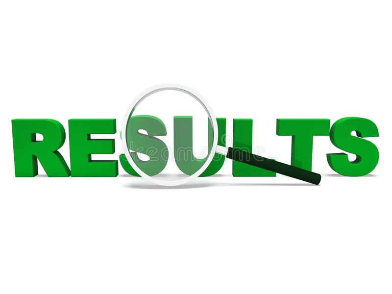 Results Word Shows Score Result Or Achievement Stock