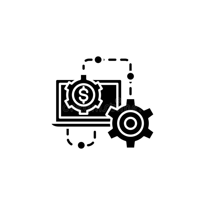 Results of the work black icon concept. Results of the work flat vector symbol, sign, illustration. Results of the work black icon concept. Results of the work stock illustration