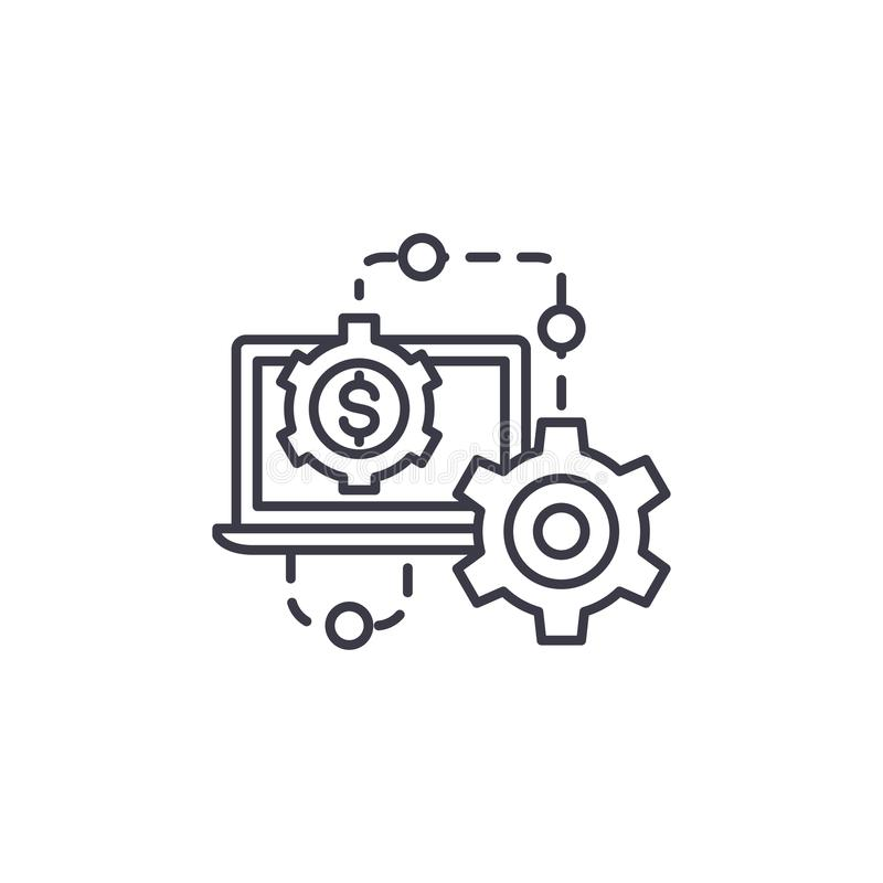 Results of the work linear icon concept. Results of the work line vector sign, symbol, illustration. Results of the work line icon, vector illustration. Results vector illustration