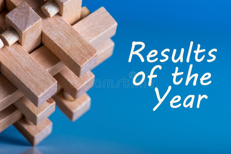 Results of the year. 2017 review. Time to summarize and plan goals for the next year. Business background royalty free stock photo