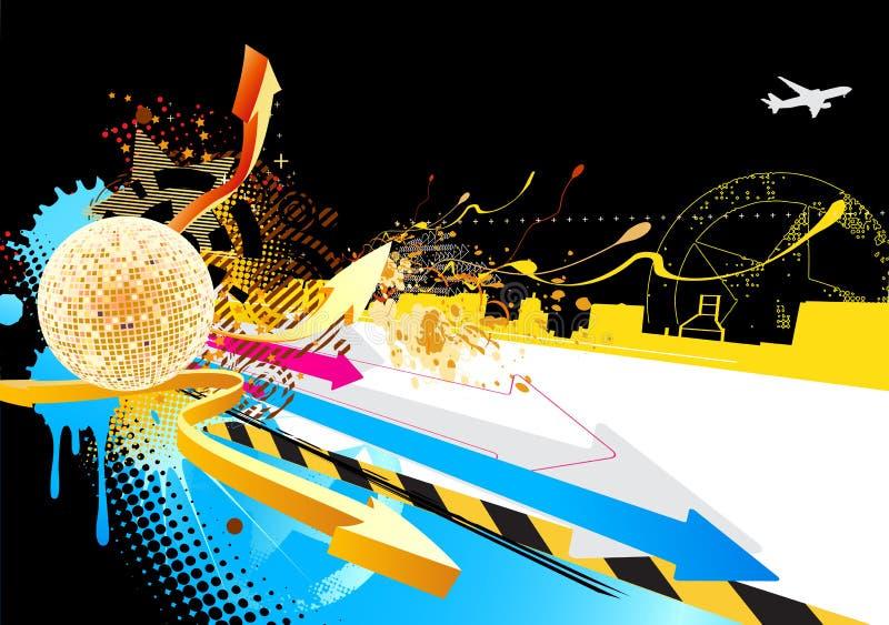 Resuma el diseño del partido ilustración del vector