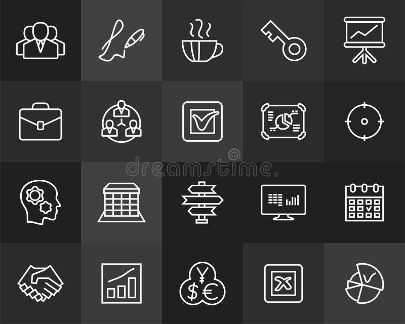 Resuma el diseño plano de los iconos ligeramente, línea moderna movimiento stock de ilustración