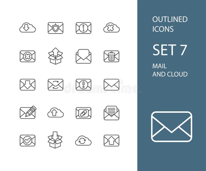 Resuma el diseño plano de los iconos ligeramente, línea moderna movimiento libre illustration