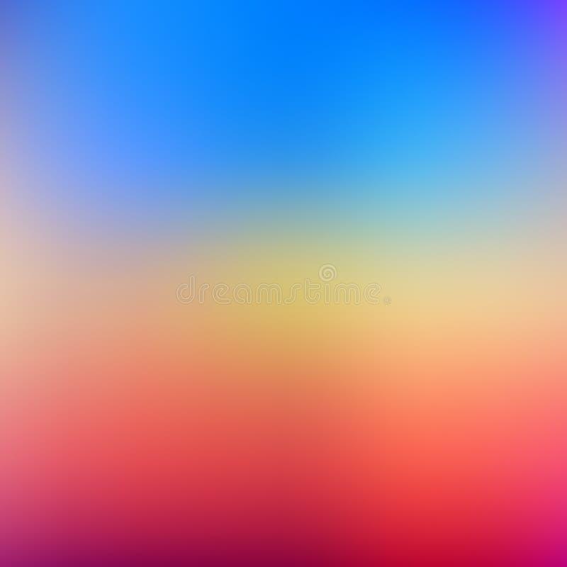 Resuma el fondo borroso de la malla de la pendiente en colores brillantes del arco iris Plantilla lisa colorida de la bandera stock de ilustración