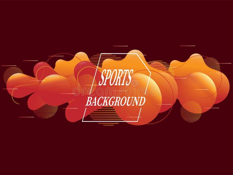 Resuma el fondo con las líneas rectas y salpica en estilo minimalista Ejemplo brillante del vector para el deporte, una posición  ilustración del vector