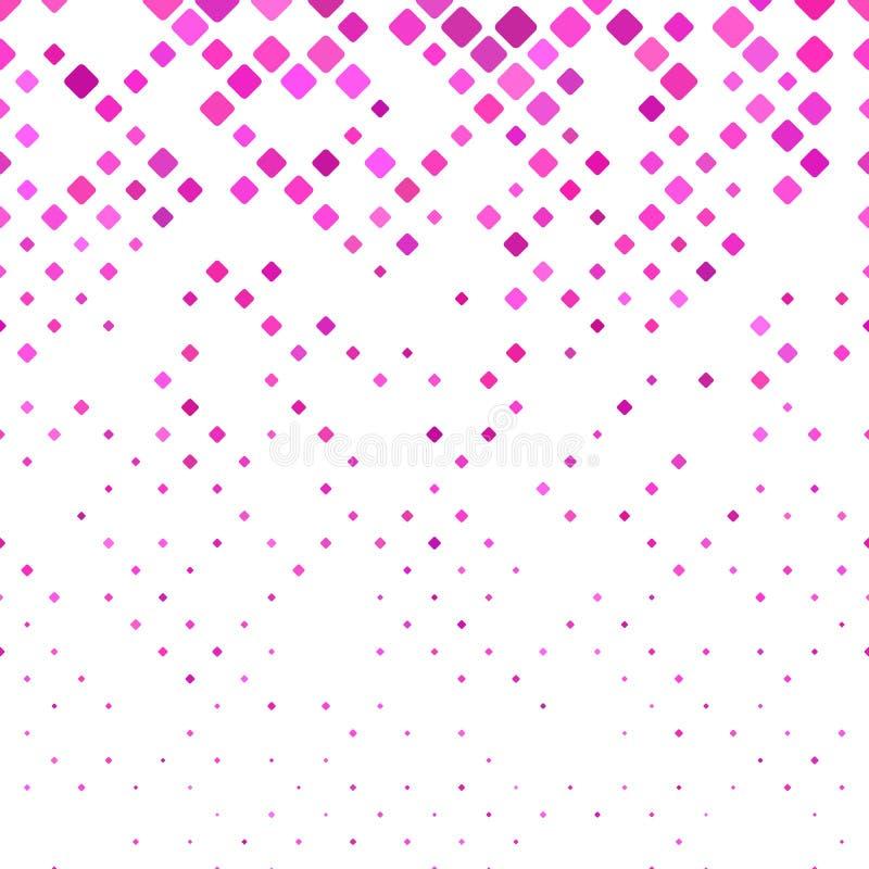 Resuma el fondo cuadrado redondeado del modelo - gráfico de vector con los cuadrados en tamaños diversos stock de ilustración