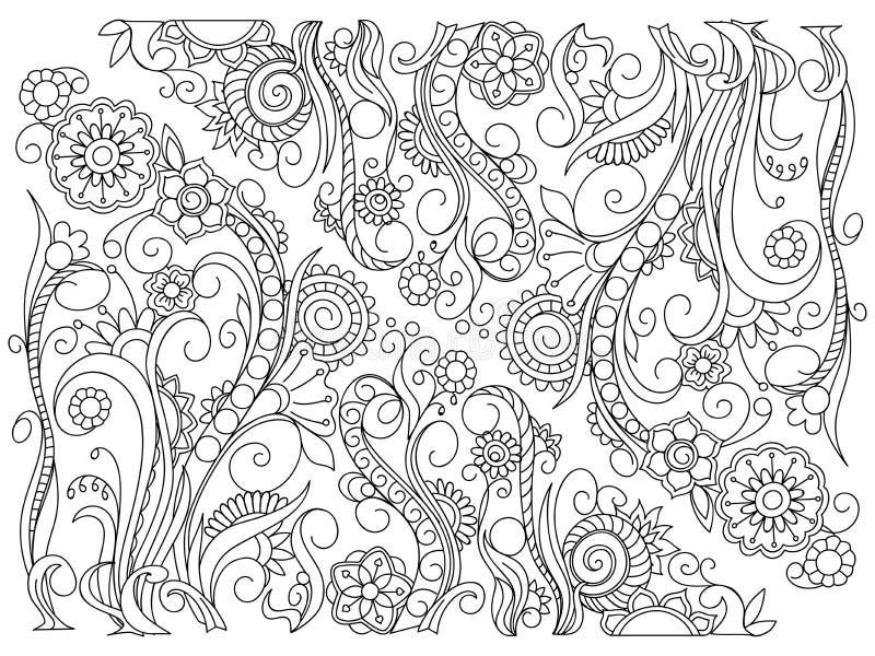 Resuma el fondo floral en estilo del boho stock de ilustración