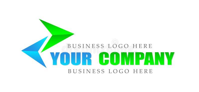 Resuma el logotipo enfocado dos direcciones, éxito en corporativo invierten diseño del logotipo del negocio Logol de la inversión ilustración del vector