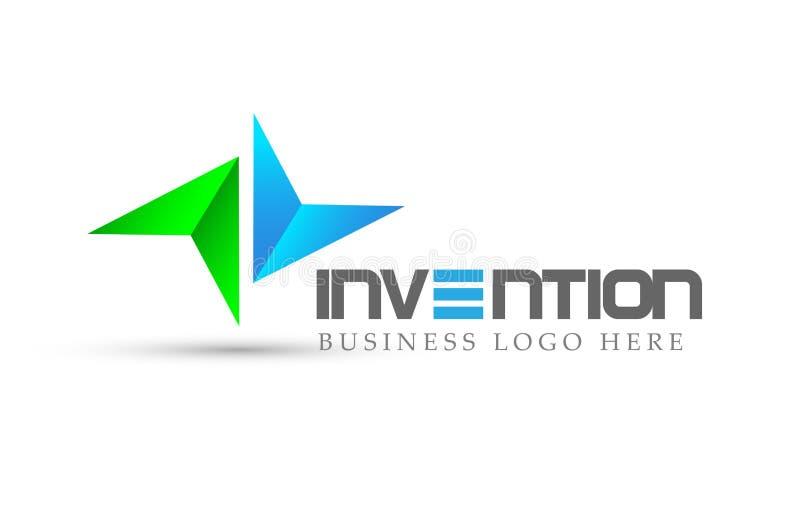 Resuma el logotipo enfocado flecha de dos direcciones, éxito en corporativo invierten diseño del logotipo del negocio Logotipo de ilustración del vector