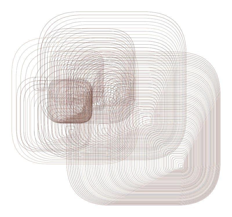 Resuma el modelo geométrico redondeado del rectángulo, colorido y artístico para el diseño gráfico Estilo, sucio, contexto y form libre illustration
